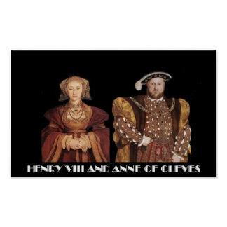 Henry VIII and Anne of Cleves Poster
