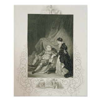 Henry VIII and Catherine Parr, in the play Henry V Poster