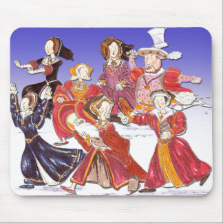 Henry VIII and his Six Wives Cartoon Mouse Mat Mouse Pad