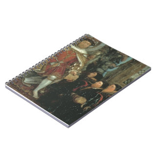 Henry VIII and the Barber Surgeons by Hans Holbein Spiral Notebook