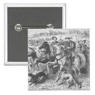 Henry VIII at the Royal Hunt in Epping Forest 2 Inch Square Button