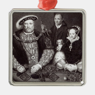 Henry VIII, his daughter Queen Mary Metal Ornament