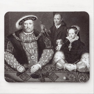 Henry VIII, his daughter Queen Mary Mouse Pad
