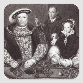 Henry VIII, his daughter Queen Mary Square Sticker
