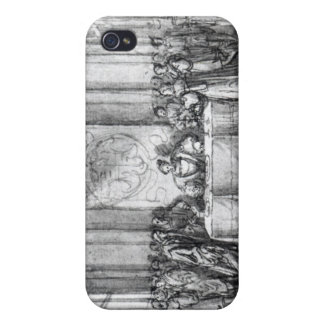 Henry VIII in his privy chamber iPhone 4 Covers