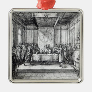 Henry VIII in his privy chamber Metal Ornament