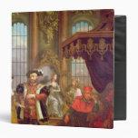 Henry VIII  introducing Anne Boleyn at court Vinyl Binders