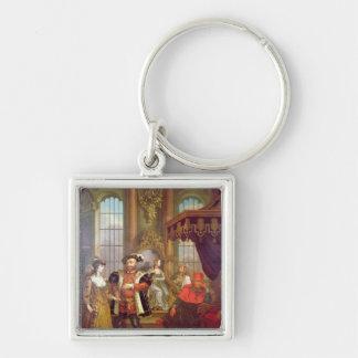 Henry VIII  introducing Anne Boleyn at court Keychain