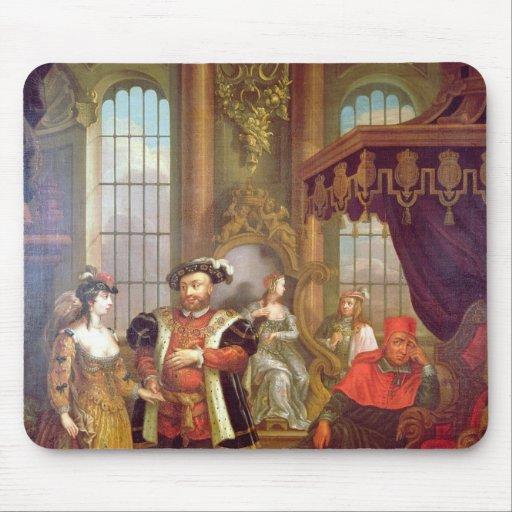 Henry VIII  introducing Anne Boleyn at court Mousepads