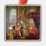 Henry VIII  introducing Anne Boleyn at court Ornament
