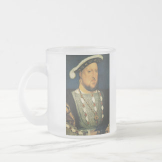 Henry VIII of England by Hans Holbein the Younger 10 Oz Frosted Glass Coffee Mug