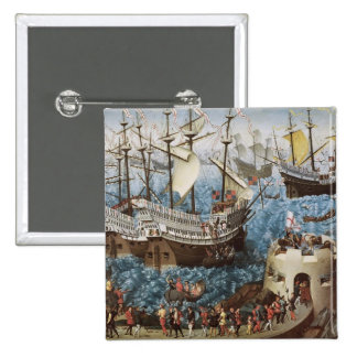 Henry VIII  on Board the Henry Grace a Dieu 2 Inch Square Button