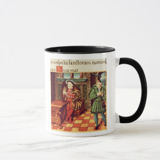 Henry VIII Playing a Harp with his Fool Wil Mug