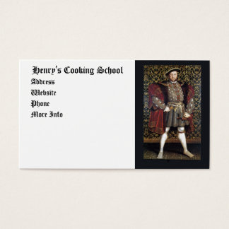 Henry VIII Portrait Business Card
