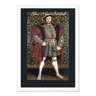 Henry VIII Portrait 5x7 Paper Invitation Card