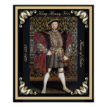 Henry VIII Portrait with Framed Edges Posters