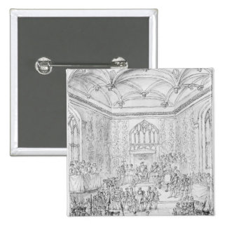 Henry VIII receiving Montmorency 2 Inch Square Button