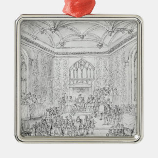 Henry VIII receiving Montmorency Metal Ornament