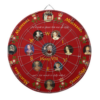 Henry VIII, Wives and Mistresses Dartboard