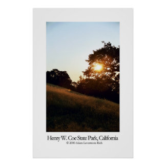 Henry W. Coe State Park, California Poster