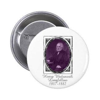 Henry Wadsworth Longfellow Pinback Buttons