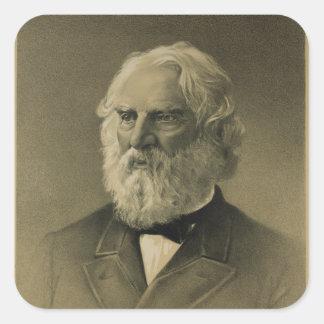 Henry Wadsworth Longfellow Portrait (1888) Square Sticker