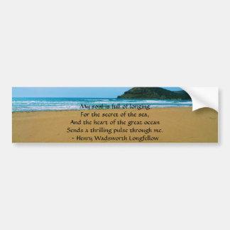 Henry Wadsworth Longfellow Spiritual Quote Bumper Sticker
