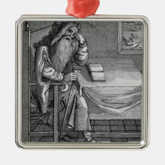 Henry Welby, 1794 Square Metal Christmas Ornament