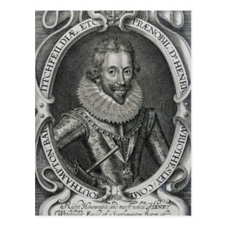 Henry Wriothesley, 3rd Earl of Southampton, 1617 Postcard