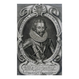 Henry Wriothesley, 3rd Earl of Southampton, 1617 Print