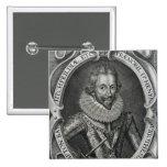 Henry Wriothesley, 3ro conde de Southampton, 1617 Pin Cuadrada 5 Cm