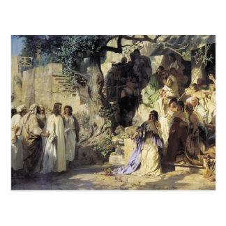 Henryk Siemiradzki- Cristo y pecador Postal