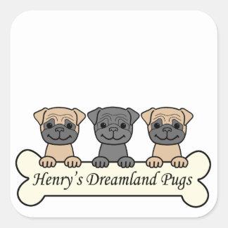 Henry's Dreamland Pugs Sticker