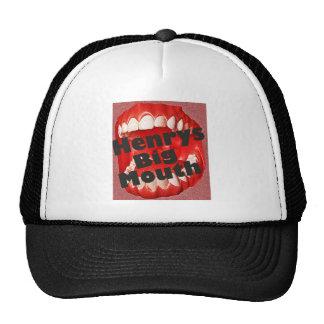 henrysbigmouth logo cap trucker hat