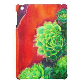 Hens and Chicks Abstract iPad Mini Cover