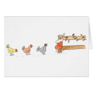 Hen's Christmas Card