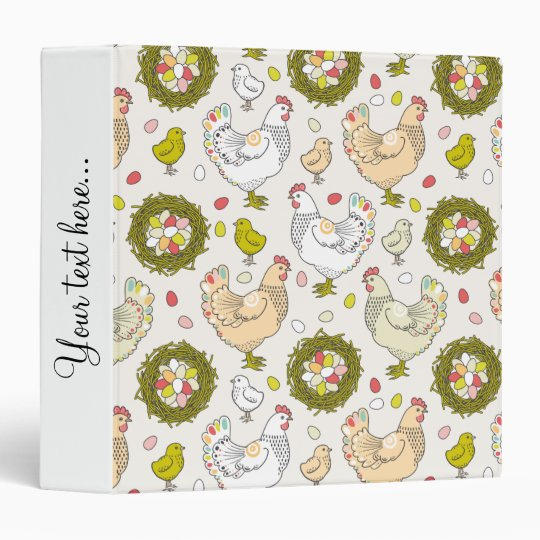 Hens, eggs and nests binder