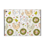 Hens, eggs and nests covers for iPad mini