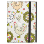 Hens, eggs and nests iPad folio cases