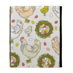 Hens, eggs and nests iPad folio cover