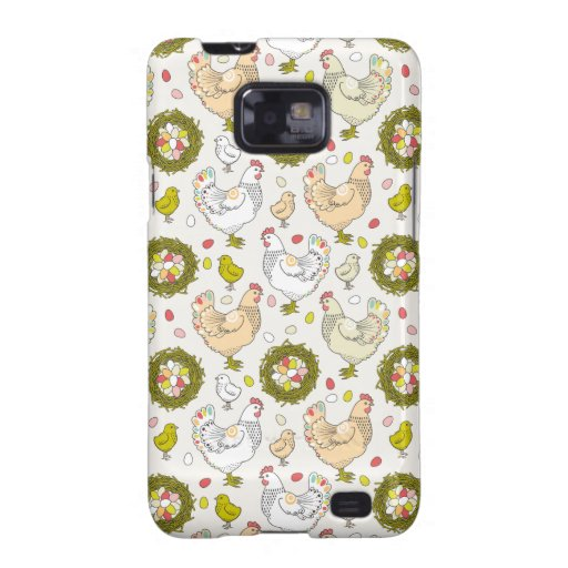 Hens, eggs and nests samsung galaxy SII cover