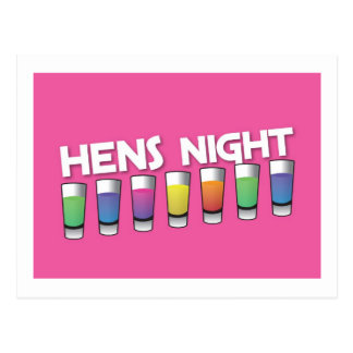 Hens night with Alcohol spirit shots Postcard