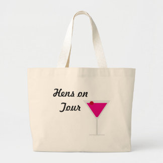 Hens on Tour Large Tote Bag