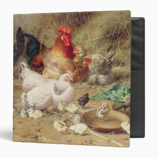 Hens roosting with their chickens binder