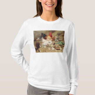 Hens roosting with their chickens T-Shirt