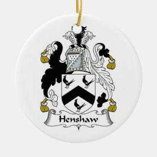 Henshaw Family Crest Christmas Tree Ornaments