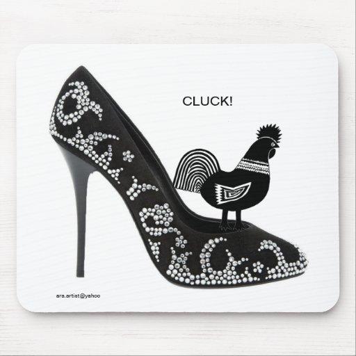 HENSHOUSE SHOES - CLUCK ara artist Mousepads