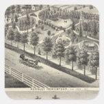 Hensley, residencias de las habas pegatina cuadrada