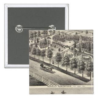 Hensley, residencias de las habas pin cuadrado