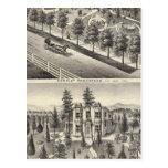 Hensley, residencias de las habas tarjeta postal